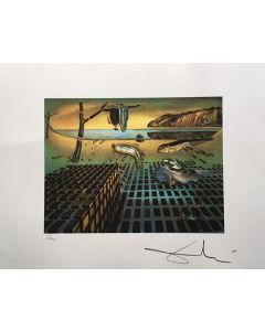 Salvador Dalì, La disintegrazione della persistenza della memoria, litografia, 50x65 cm, 1988