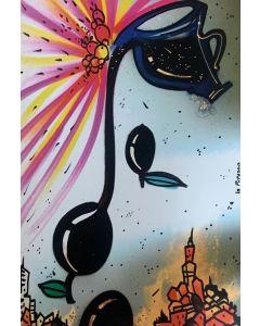La Pupazza, L'olioliva, grafica su PVC, 31X47 cm