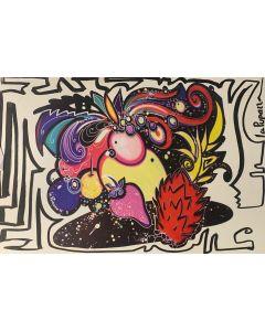 La Pupazza, La fragola, grafica su PVC, 31X47 cm