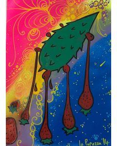 La Pupazza, Palafragola n° 4, Spray e maker su carta, 21x30 cm
