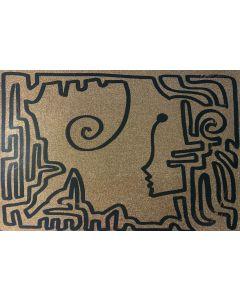 La Pupazza, Una linea continua di donna, grafica su PVC, 31X47 cm