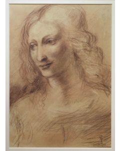Giancarlo Prandelli, La Scapiliata, matita su cartoncino, 38.5x28.5cm