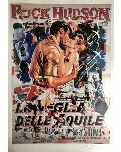 Mimmo Rotella, La Veglia delle Aquile, seridécollage, 100x70 cm