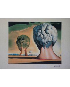 Salvador Dalì, Les trois sphinx de Bikini, litografia, 58x80, 1987