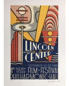Roy Lichtenstein, Lincoln center Film Festival, serigrafia su carta Arches France, 56,5x38 cm