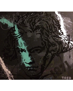 Andrew Tosh, Lodovico Van, acrilico su tela, 85x80 cm