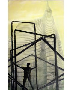 Pier Luca Bencini, Looking for freedom, acrilico su tela, 80x50 cm