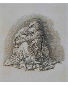 Andrea Mantegna, Madonna col Bambino, bulino e puntasecca, 21x22 cm
