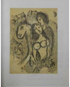 Marc Chagall, Liebespaar mit Pferd, acquatinta, pubblicata sul catalogo Korfeld (n°118), 1961, 23x16,5 cm (immagine)