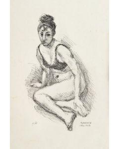 Giovanni March, Figura femminile, litografia, 50x35 cm