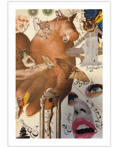 Maria Chiara Signorini, E-qui-librarsi, collage e inchiostro su carta, 33x48 cm
