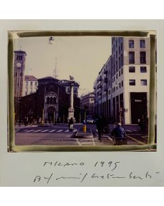 Maurizio Galimberti, Milano 1995, Polaroid originale unica, 10x10,5 cm