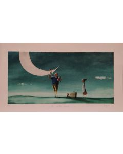 Diego Santini, La meta ideale, Giclée art print ritoccata a mano, 70x40  cm