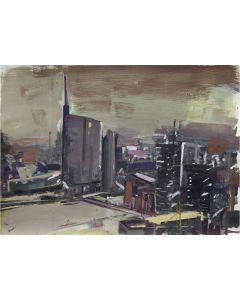 Alessandro Russo, Milano, acrilico su carta, 68x98 cm