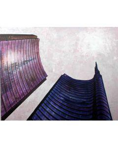 Pier Luca Bencini, Milano ad lucem, acrilico su tela, 80x100 cm