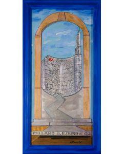 Carlo Massimo Franchi, Milano il futuro è qui, tecnica mista, 78x36 cm