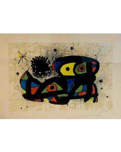 Joan Mirò, Senza Titolo, litografia, 56x76 cm, 1979
