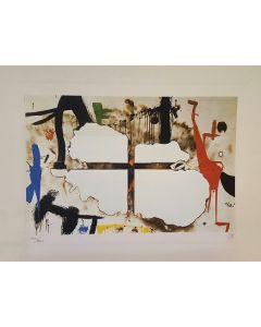 Joan Mirò, Burnt Canvas, litografia, 50x35 cm