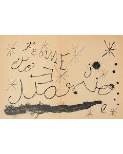 Joan Mirò, Cartons pg.13, litografia, 37x55 cm, 1965