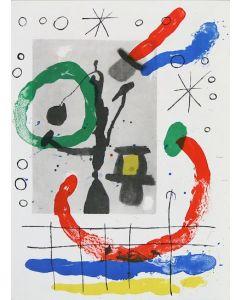 Joan Mirò, Cartons pg.16, litografia, 28x38 cm, 1965