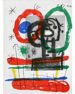 Joan Mirò, Cartons pg.13, litografia, 28x38 cm, 1965
