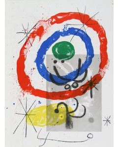 Joan Mirò, Cartons pg.11, litografia, 28x38 cm, 1965