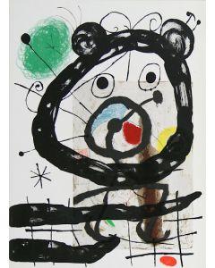 Joan Mirò, Cartons pg.28, litografia, 28x38 cm, 1965