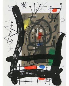 Joan Mirò, Cartons pg.25, litografia, 28x38 cm, 1965