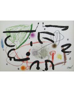 Joan Mirò, Maravillas Con Variaciones Acrósticas En El Jardín De Miró n11, litografia, 50x72 cm, 1975