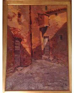 Angiolo Volpe, Montenero, olio su tela, 50x70 cm