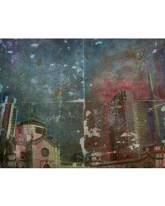 Loris di Falco, Vicino al Monumentale, tecnica mista, 38x48 cm