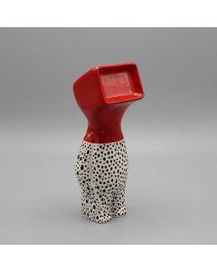 Fè, Myselfie. Homo Monitor Dalmata,  scultura in ceramica dipinta a mano, h 25 cm