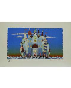 Meloniski da Villacidro, Piccola città, retouché, 40x60 cm