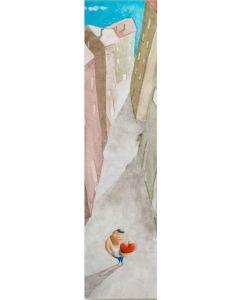 Diego Santini, Nascondino con cuore, Giclée art print ritoccata a mano, 16x56  cm