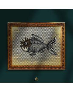 Aria Carelli, Nuota fino a trovarti, acrilico e china su carta texturizzata, 33x27 cm (con cornice)