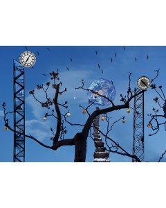Norma Picciotto, Ogni evento ha il suo tempo sotto il cielo, fotografia con elaborazione digitale, 30x40 cm