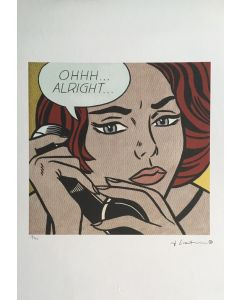 Roy Lichtenstein, Ohhh...Alright, serigrafia su carta Arches France, 56,5x38 cm