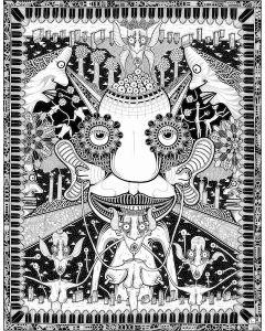 Léonard Combier, Untitled, 2016, inchiostro su carta, 50x65 cm