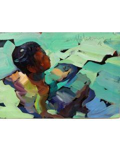 Claudio Malacarne, Controluce, olio su tela, 30x20 cm