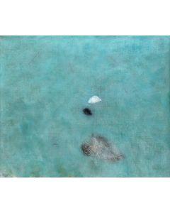 Luca Bonfanti, Omaggio alle acque, tecnica mista acrilico su tela, 100x120 cm
