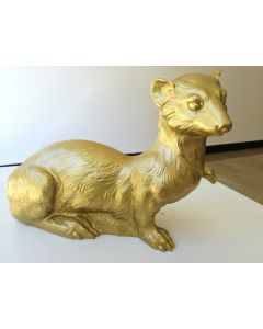 Ottmar Hörl, Ermellino oro, scultura in plastica, 23x27x15 cm