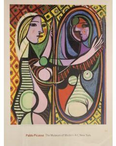 Pablo Picasso, Jeune fille devant un miroir, poster, 61x81cm