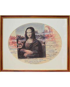 Giancarlo Prandelli, I segreti del paesaggio della Gioconda, inchiostro su cartoncino, 37,5x29cm (D293)