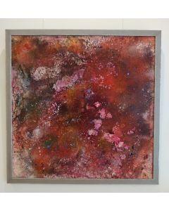 Maria Alonso Pàez, Omnia, pigmenti naturali su tela, 100x100 cm