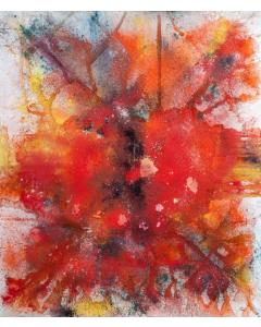 Maria Alonso Pàez, Omnia, pigmenti naturali su tela, 200x200 cm