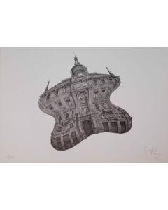 Giovanni Franzi, Palazzo Assicurazioni Generali, litografia, 35x49 cm