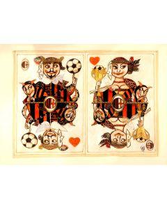 Paolo Fresu, Milan, acrilico, pastelli e collage su carta, 72,5x54 cm