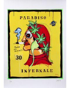 Yux, Paradiso Infernale, retouchè, 46x32 cm