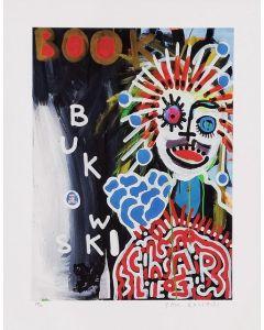 Paul Kostabi, Bukowsky, Giclée, 60x47 cm, 2014