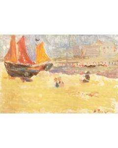 Daniela Penco, Pomeriggio d'estate, olio su cartone telato, 10 x 15 cm